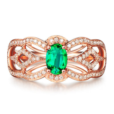 Wiley Hart Green Sapphire Princess Women's Ring in White Gold or Silver
