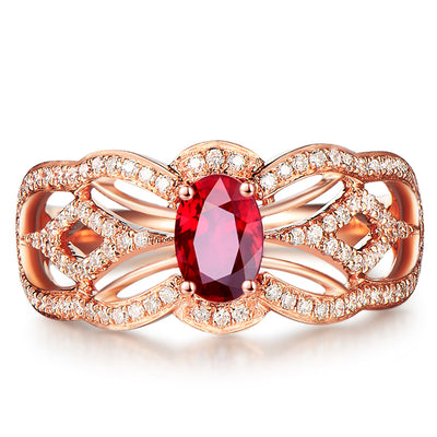 Wiley Hart Princess Red Sapphire Women's Ring Band in 14K Gold or 925 Silver
