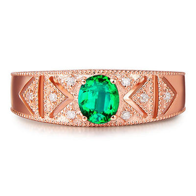 Wiley Hart Rose Gold Green Sapphire Engagement Ring in White Gold or Silver