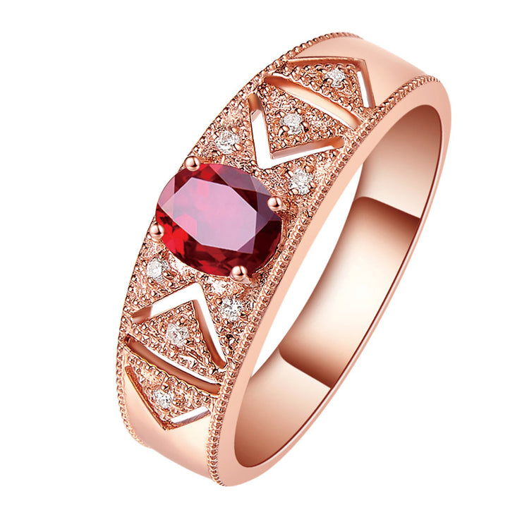 Wiley Hart Oval Cut Sapphire Women's Stylish Band Anniversary Ring Band Rose Gold