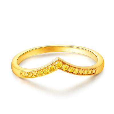 Wiley Hart Designer Yellow Sapphire Women's Ring Band Wedding Band Gold or Silver