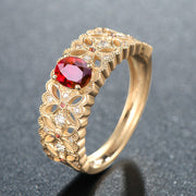 Wiley Hart Stylish Red Sapphire Band Women's Ring Band Handmade in 14K Gold or Silver