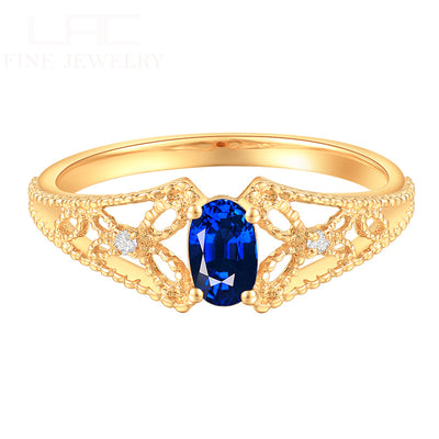 Wiley Hart Eye-catching Blue Sapphire Wedding Ring Wedding Band White Gold or Sterling Silver