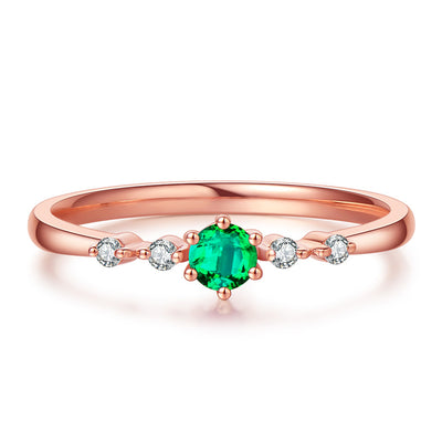 Wiley Hart My Princess Green Sapphire Women's Stackable Ring in Rose Gold or Silver