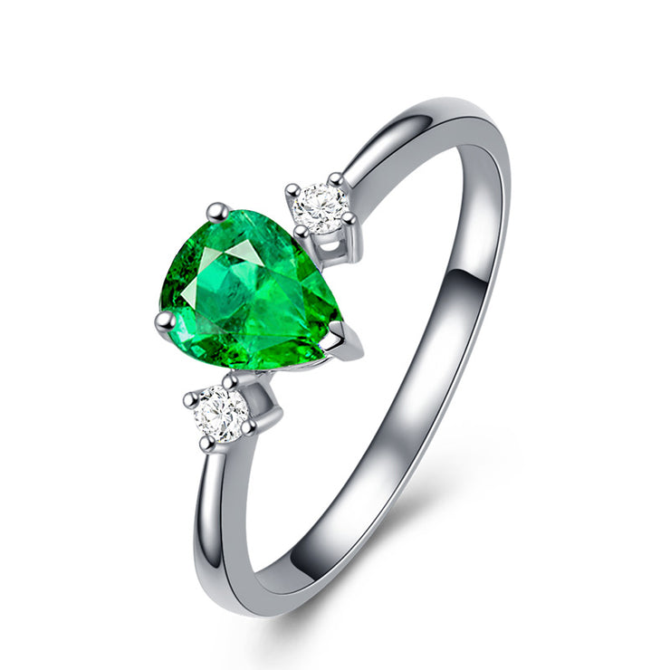 Wiley Hart Stackable Green Sapphire Women's Ring Band in White Gold or Silver