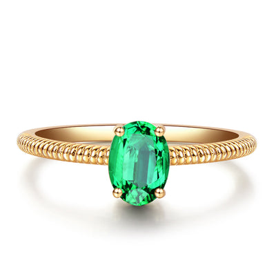 Wiley Hart Vintage Green Sapphire Women's Ring Anniversary Gift in White Gold or Silver