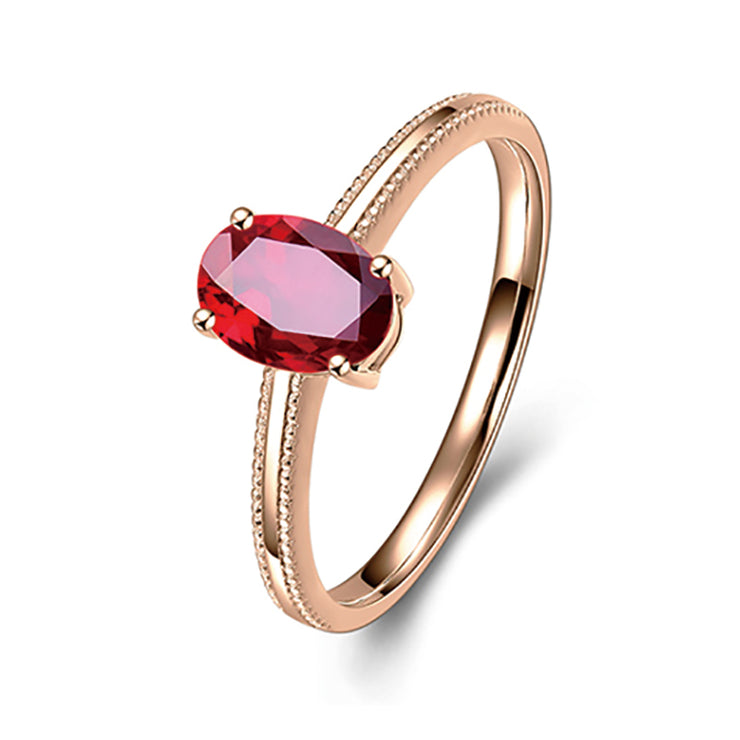 Wiley Hart Forever You Rose Gold Red Sapphire Women's Ring Wedding Anniversary Ring