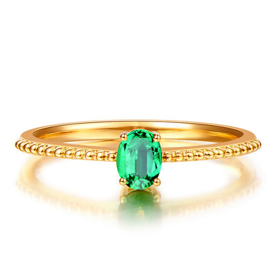 Wiley Hart Women's Ring Green Sapphire Engagement Ring in White Gold or Silver