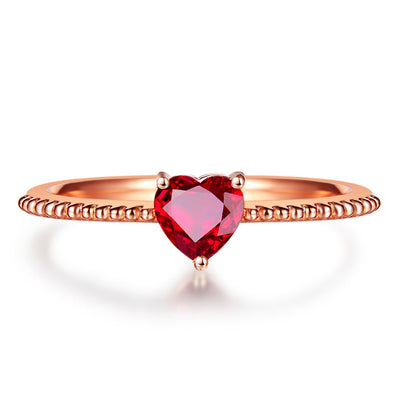 Wiley Hart Handcrafted Stackable Red Sapphire Women's Ring in 14k Gold or Silver