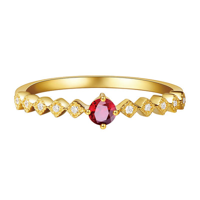 Wiley Hart Red Sapphire Women's Ring Band Wedding Anniversary Ring Band