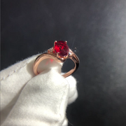 Romantic Ruby Sapphire 2 Carats Oval Cut Solitaire Engagement Ring Wedding Rings White Gold or Sterling Silver Wiley Hart