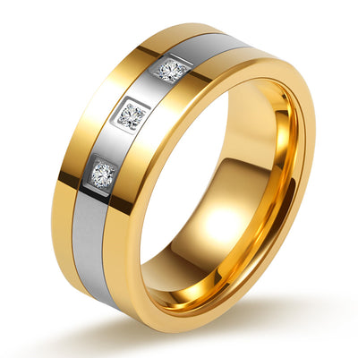Stylish Diamond Spphire Men's Wedding Band Men's Ring Men's Wedding Ring Gold Ring for Men Wiley hart