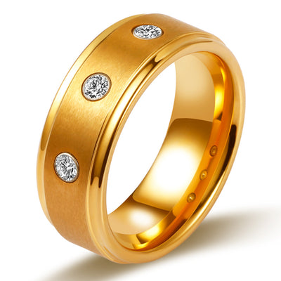 Stylish Men's Wedding Band Men's Ring Men's Wedding Ring Unique Gold Ring for Men Wiley Hart