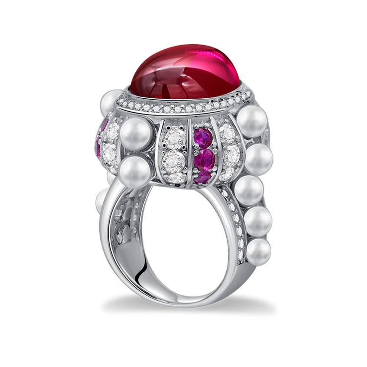 Wiley Hart  12 Carats Oval Cut Red Sapphire Ring Engagement Wedding Ring White Gold or Silver