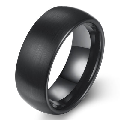 Wiley Hart Black Men's Wedding Band Mens Ring Unique Mens Wedding Ring Black Ring for Men