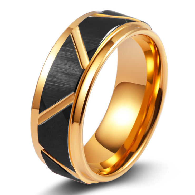 Wiley Hart Men's Wedding Band Mens Ring Unique Mens Wedding Ring Gold Ring for Men