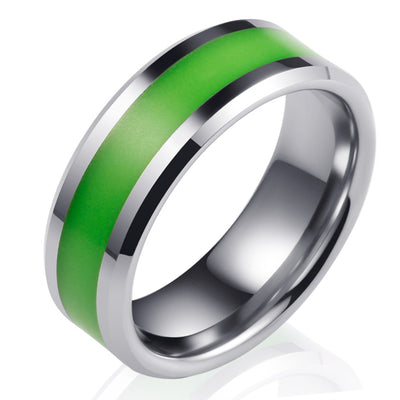 Wiley Hart Creative Men's Wedding Band Men's Luminous Ring Men's Wedding Ring Unique Band Ring for Men