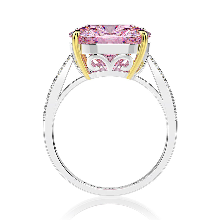 Wiley Hart Cushion Cut Pink Sapphire Engagement Ring Wedding Ring White Gold or Silver
