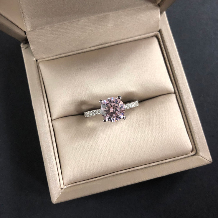 Wiley Hart Full of Sparkle Women's Round Brilliant Cut Sapphire Ring Engagement Ring