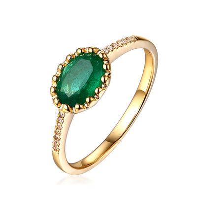 Wiley Hart Simple Elegance Green Sapphire Oval Cut Women's Stylish Engagement Ring in Gold or Silver