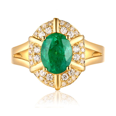Wiley Hart Double Halo Green Sapphire Oval Cut Women's Engagement Ring Gold or Sterling Silver