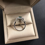 Wiley Hart Like A Boss Emerald Green Sapphire Engagement Ring in White Gold or Silver
