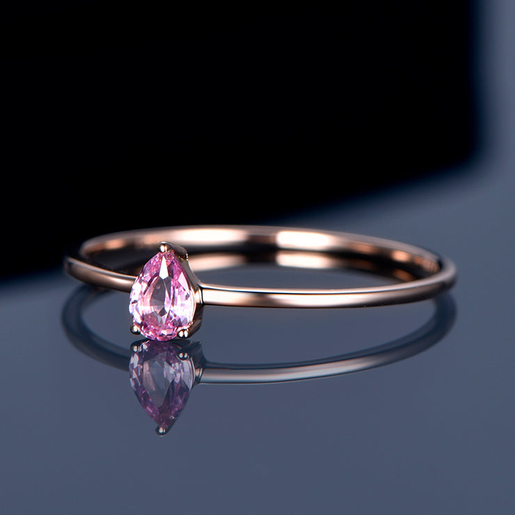Wiley Hart Pear Radiant Round Marquise Pink Sapphire Bridal Engagement Rings in Gold or Silver Multiple Shape