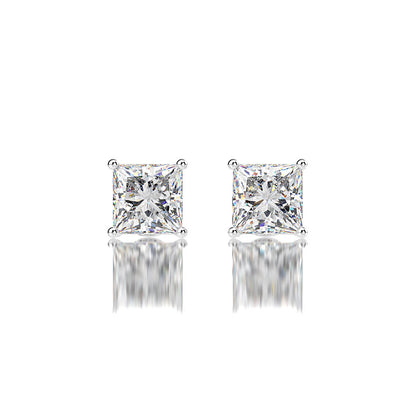 Wiley Hart Princess Cut Wedding Earrings White Lab Created Sapphire Bridal Statement Earrings
