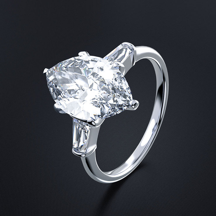Wiley Hart Stunning Marquise Cut Sapphire Ring Engagement Ring Cocktail Ring White Gold or Sterling Silver