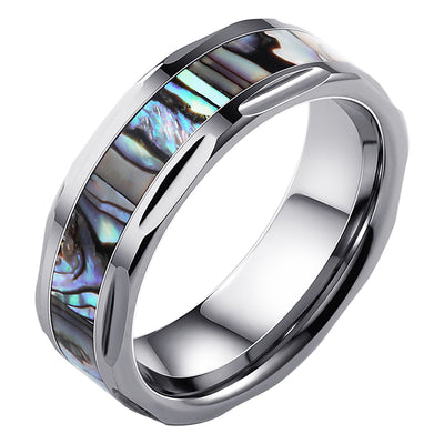 Wiley Hart Stylish Shell Men's Wedding Band Mens Ring Unique Mens Wedding Ring