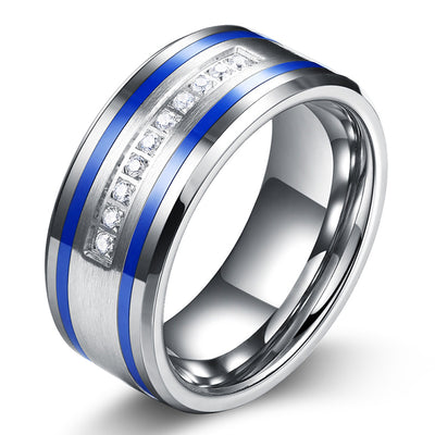 Wiley Hart Stylish Men's Wedding Band Men's Diamond Ring Men's Wedding Ring Unique Band Ring for Men White Gold or Silver