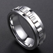 Wiley Hart Stylish Men's Wedding Band Mens Ring Unique Mens Wedding Ring Rotatable Ring for Men