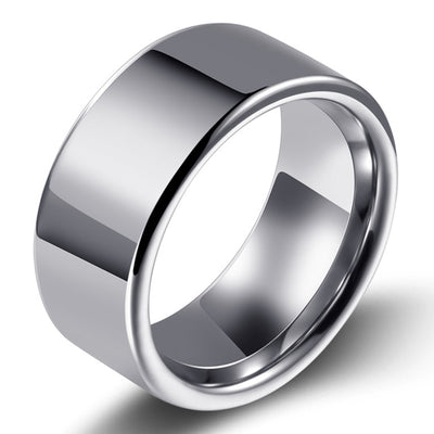 Wiley Hart Stylish Men's Wedding Rings Men's Band Rings Unique Mens Wedding Bands Male Wedding Bands White Gold or Silver