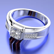 Wiley Hart Unique Men's Diamond Wedding Band Men's Engagement Ring Men's Wedding Band Ring Gold Ring for Men