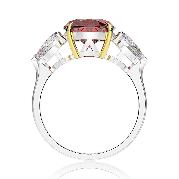 Wiley Hart Women's Elegant Oval Sapphire Ring Engagement Ring Cocktail Ring White Gold or Sapphire