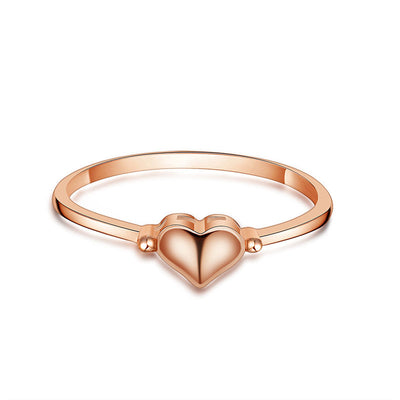 Wiley Hart Women's Rose Gold Heart Delicate Engagement Ring in White Gold or Silver