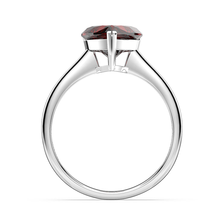 Wiley Hart Women's Heart of Love Sapphire Ring Engagement Ring Cocktail Ring