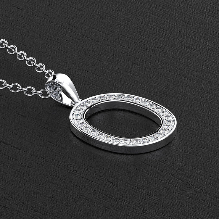 English Letter O Name Charm Pendant Necklace Unisex Necklaces Jewelry Gift 14K Gold or Sterling Silver Wiley Hart