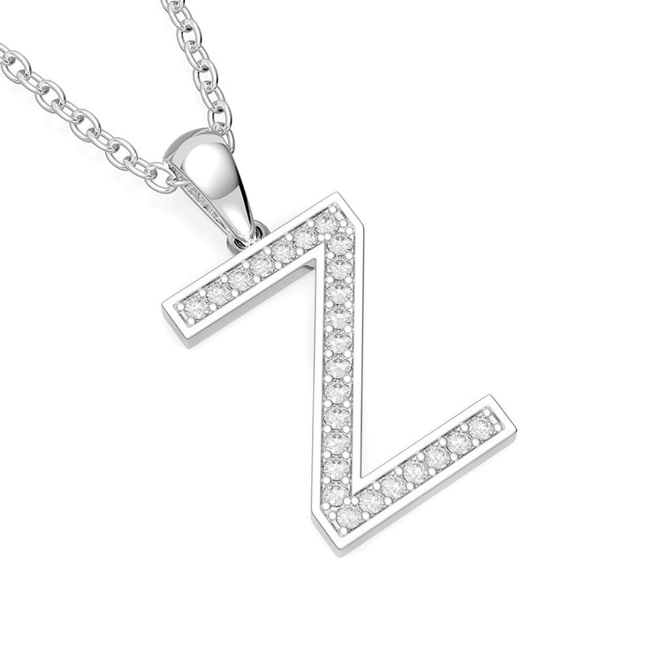 Wiley Hart Diamond-Studded Initial Letter Pendant Necklace 14K Gold or Sterling Silver