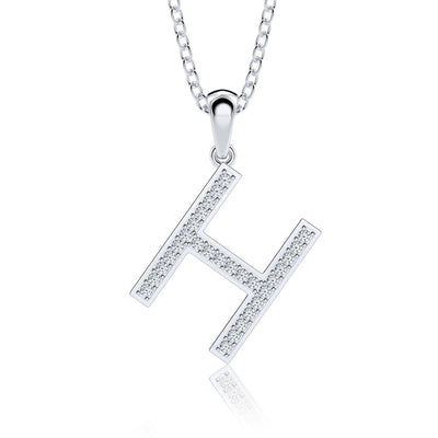 Bling Alphabet Name Personalized Jewelry Women Charm Initial Letter Necklace 14K Gold or Sterling Silver Wiley Hart