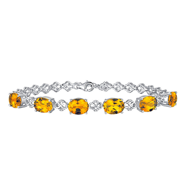 Wiley Hart White Gold Women's Oval Cut Yellow Wedding Engagement Bracelets