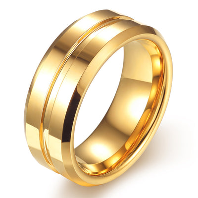 Wiley Hart Men's Wedding Band Mens Ring Men's Wedding Ring Yellow Gold Ring for Men