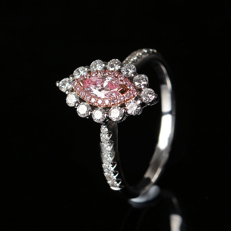 Wiley Hart Pink Flattering Sapphire Engagement Ring Marquise Wedding Ring White Gold or Sterling Silver