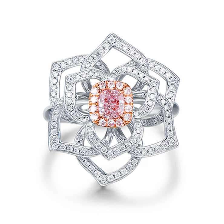 Wiley Hart Pink Sapphire Designer Cocktail Ring Women's Ring White Gold or Sterling Silver