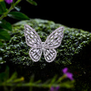Wiley Hart Butterfly Ring Diamond Ring White Sapphire Ring Gold Ring