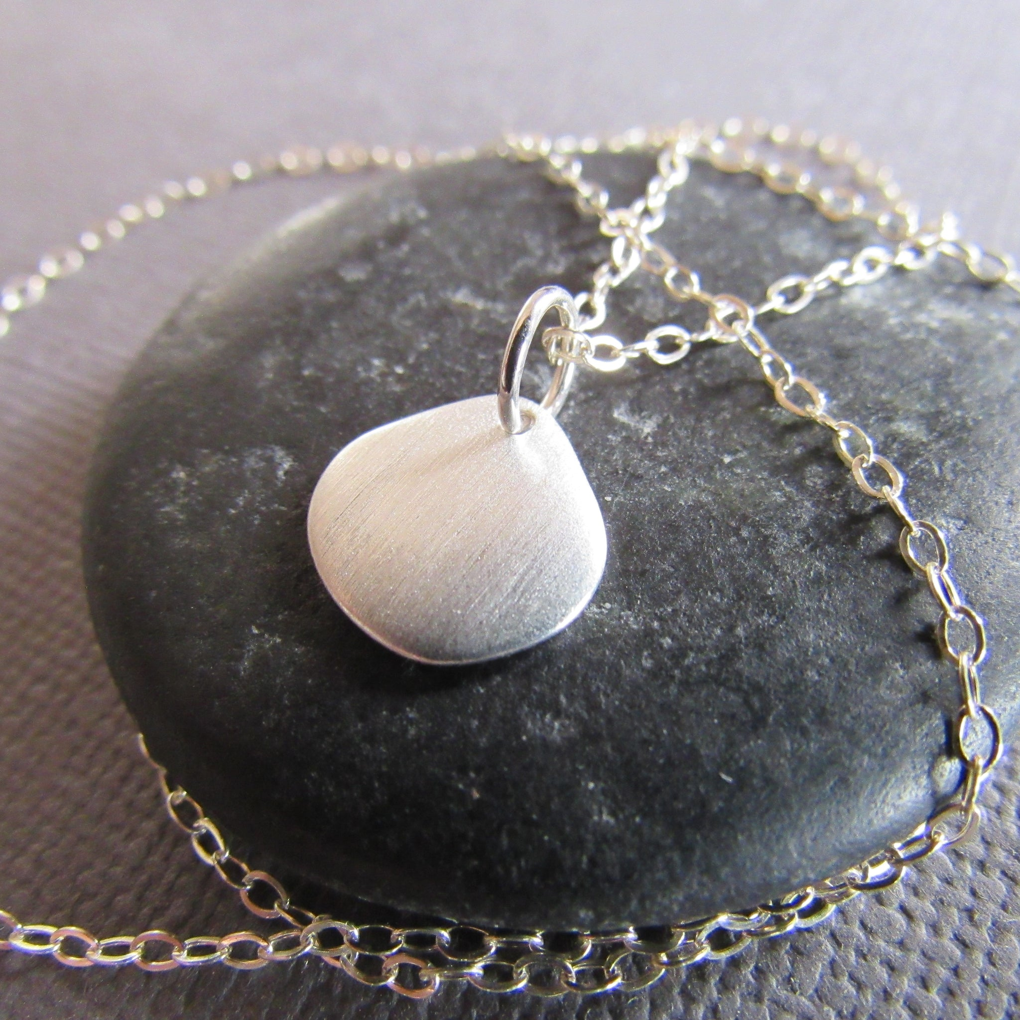 Brushed Sterling Silver Cloud Necklace