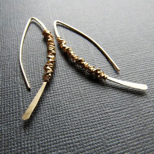 14K Gold Simplicity Threader Earrings