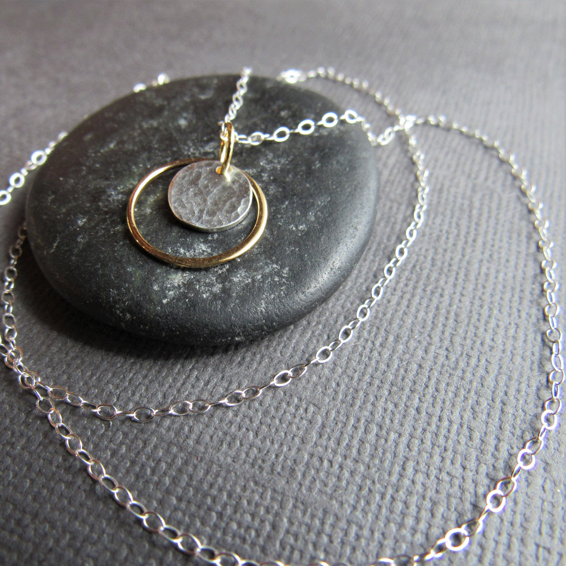 Gold and Sterling Silver Coin Necklace