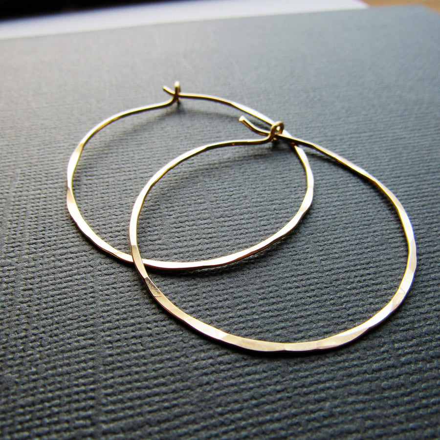 Classic Gold Hoops Large