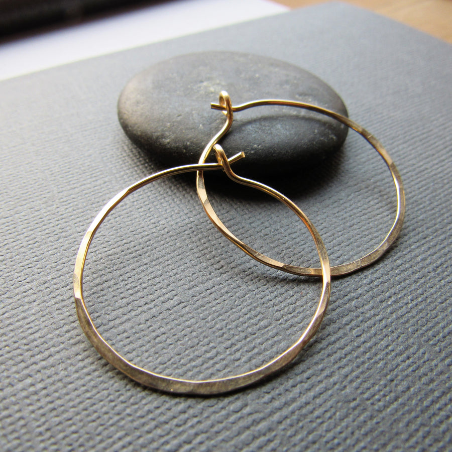 Classic Gold Hoops -Medium